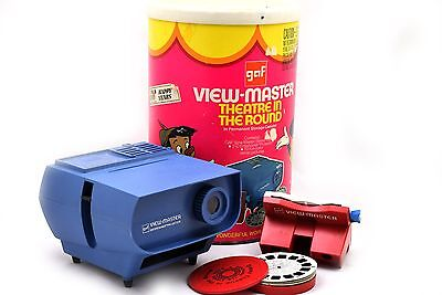 Vintage GAF View-Master Theater In The round Disney w/ Reels