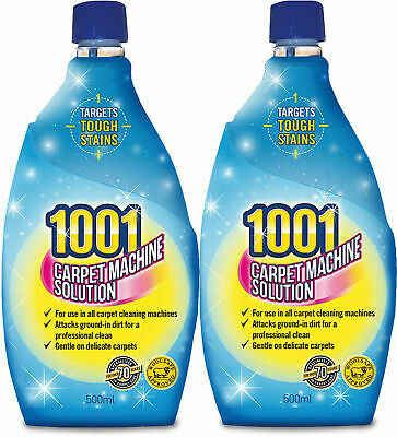 1-2-OR-6 x 1001 Carpet Shampoo For 3 in 1 Machines 500ml each