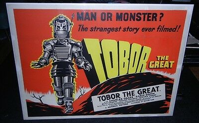 """Tobor The Great"" Vintage Science Fiction British Quad Robot Movie Poster"
