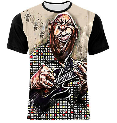 New 100% Cotton  B. B. King Blues Rock And Roll Soul Music  Multicolor  T-Shirt!