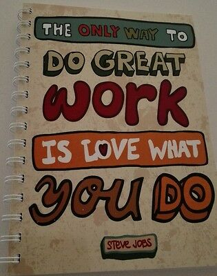 2018-2019 financial year diary 'love what you do' quote  A5