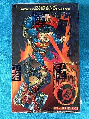 DC Firepower 1995 Embossed Trading Cards Box - Skybox - Factory sealed