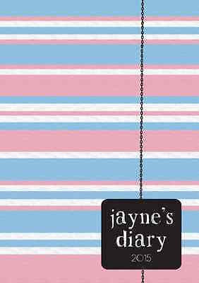 2017-2108 diary personalised with your name pastel strips A5