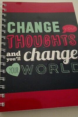 2018-2019 financial year diary change your thoughts and you'll change your world
