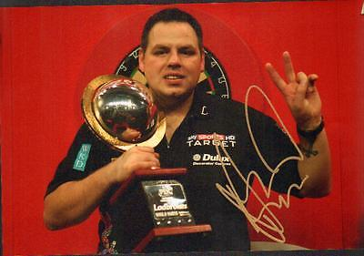 12x8 HAND SIGNED PHOTO ADRIAN LEWIS DARTS PLAYER (1)