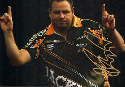 12x8 HAND SIGNED PHOTO ADRIAN LEWIS DARTS PLAYER (2)