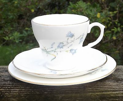 Staffordshire Bone China Trio Made in England Bluebells Pattern Cup Saucer Plate