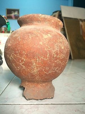 Wonderful Antique Ban Chiang Nice Incised Pot with beautiful Decoration - Age BC