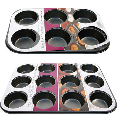 Non Stick 6/12Cupcake Baking Pan Tray Tin Cup Cakes Yorkshire Pudding Muffin Bun