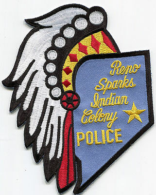 Reno Sparks Indian Colony Police Patch /// Nevada Tribal