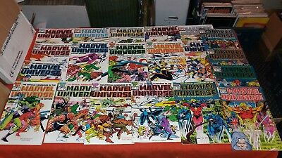 Official Handbook Of Marvel Universe Deluxe Edition Vol 2 1 -20 A-Z Complete Set