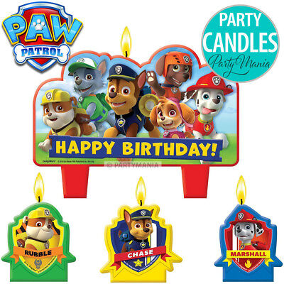 Paw Patrol Birthday Party Supplies Decorations Birthday Cake Candle Set Of 4