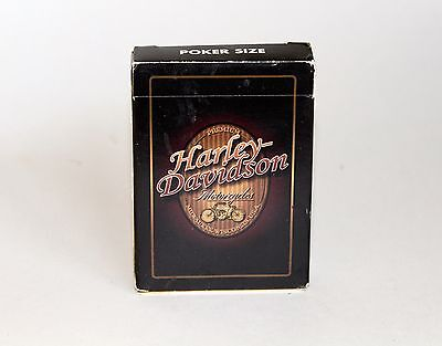 Harley-Davidson Motorcyle Playing Cards in Box Poker Size Brown