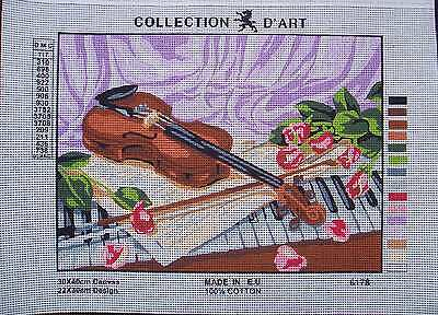 Needlepoint canvas Violin 6.178 Collection d'Art