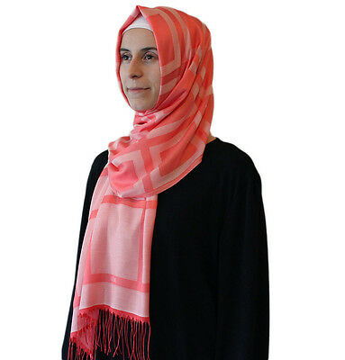 Aker Plaid Turkish Shawl Islamic Hijab Headscarf 1020400 964 Pink