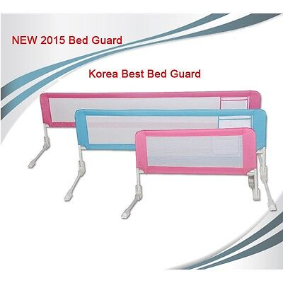 New Extra Long Bed Rail Kids Toddler Children Safety Sturdy Guard - Ivory Small