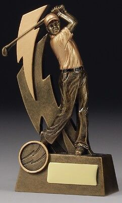 Golf Shazam Series Resin Trophy Award 150mm FREE Engraving 11617A