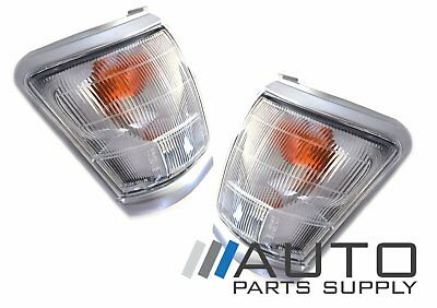 Toyota Hilux LH + RH Indicators Corner Lights Grey Surround 1997-2001 *New*