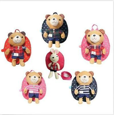Fashion New Cute Kids Safety Harness Reins Back Pack Walker Buddy Strap Baby Bag