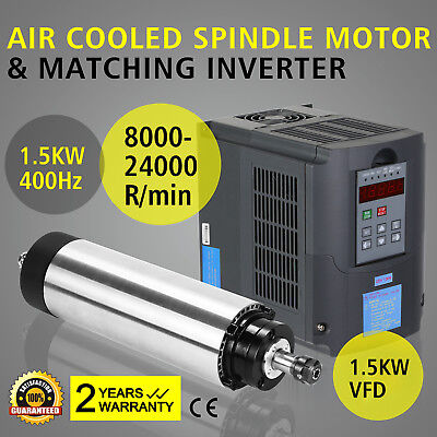 1.5Kw Moteur Broche Refroidi Par Air+1.5Kw Vfd Air Cooled Spindle Motor Mill