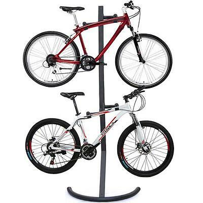 Adjustable Gravity Bike Stand Cycle Tidy Holds 2X Bike Mount Rack Stand Storage