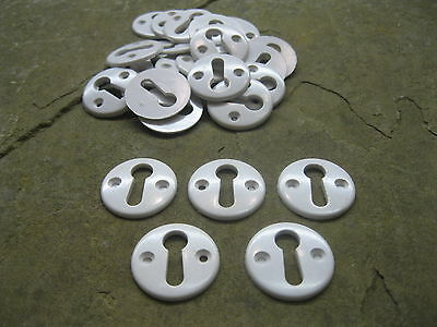 Original Bakelite White Key Hole Escutcheons  KH2