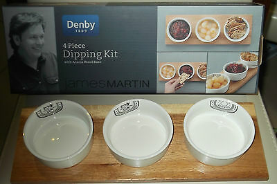 Denby James Martin 4Pc Dipping Kit  New