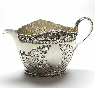Antique Victorian Jug Sheffield 1893 HM Solid 925 Silver Atkin Brothers 96.4g