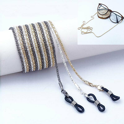 Metal Glasses Spectacle Sunglasses Curb Chain Strap Holder Cord Reading Eyeglass