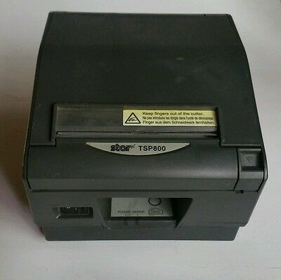 Star Micronics TSP800 Thermal POS Printer Dark Gray w/ Tape-Tested and Working