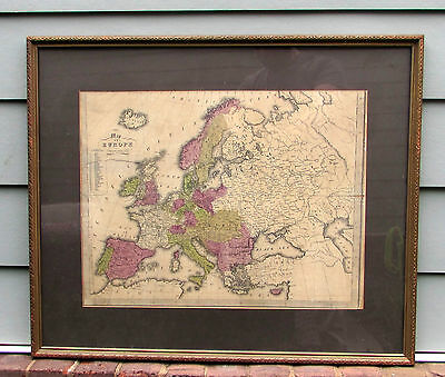 ANTIQUE Map EUROPE Prussia TRANSYLVANIA Austria LARGE Early 1800's