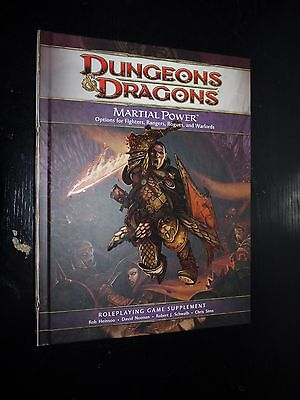 DUNGEONS & DRAGONS D&D D20 4.0 4th Ed Martial Power Sourcebook