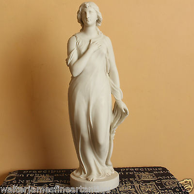 "22"" Parian Figurine of BEATRICE by Edgar Papworth, Made by COPELAND circa 1880"