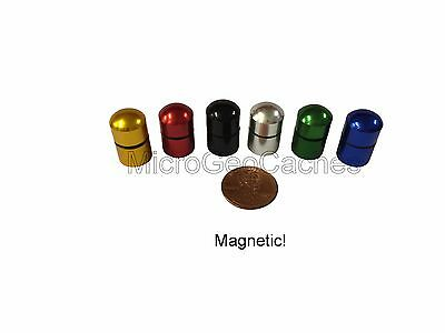 6 - Color Magnetic Micro/Nano Geocaching Containers Baby Bison Tube Geocache