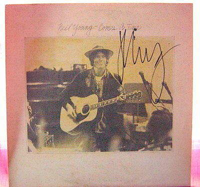Neil Young Signed Lp Comes A Time