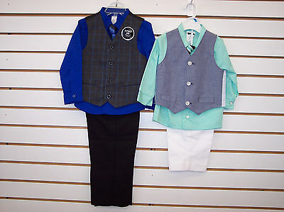 Infant & Toddler Boys 4pc Vest Suits Size 3/6 Months - 5T