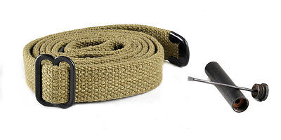 USGI WW2 .30 M1 CARBINE SLING and OILER Lt. OD