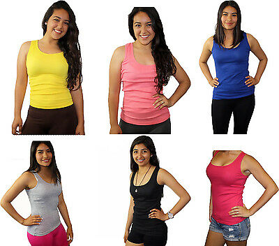 Women's SOFRA 100% Cotton Ribbed Rib A-Shirts Tank Tops Style TT200 Only $4.99