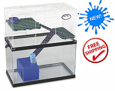 NEW Pet Home Tank Topper Cage Small Animal Hamster Gerbil Mice Cages Multi Level