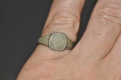 Ancient Roman Empire Soldier Legionary Fully Wearable Bronze Ring Sz US 8.75