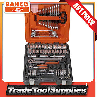 "Bahco Socket Set + Combination Wrench 106 Piece 1/4"" & 1/2"" Dynamic Drive S106"