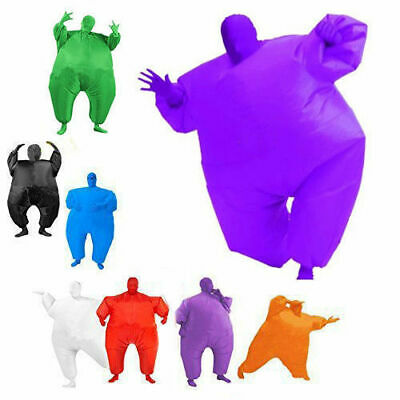 Inflatable Fancy Chub Fat Masked Suit Dress - Blow Up Christmas Party Costume