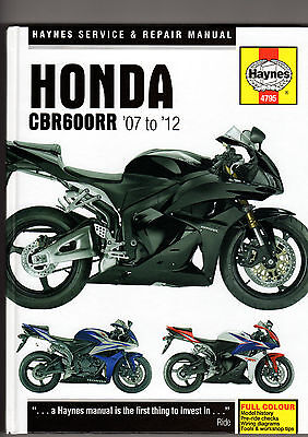 Honda Cbr600Rr 2007 To 2012 Service, Repair Workshop Manual