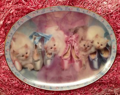 Opening Night Prima Ballerinas Collector Plate Kitten Cat Ballet - Danbury Mint