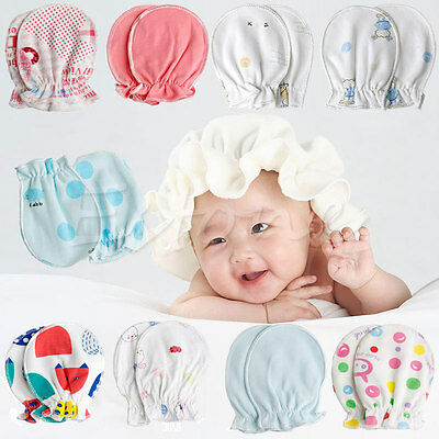 2/10Pairs Newborn Baby Soft Cotton Handguard Anti Scratch Mittens Gloves Infant