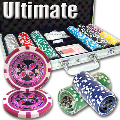 NEW 300 PC Ultimate 14 Gram Clay Poker Chips Set Aluminum Case Select Your Chips