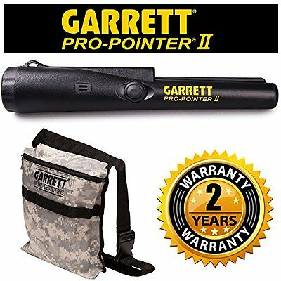 Garrett Pro Pointer II Two Metal Detector Pinpointer with Holster and Garrett Ca