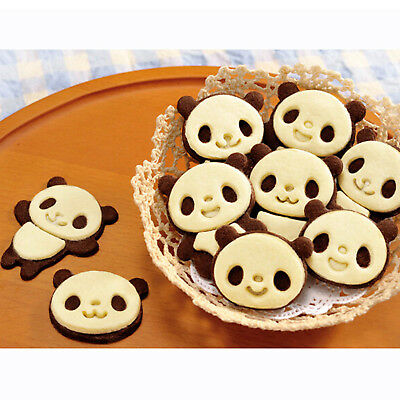 Set of 12 Panda Cookie Cutter Mould Biscuit Super Kawaii Cute Pastry Baking Mold