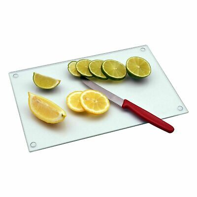 New Clear Glass Chopping Board Workspace Protect Cutting Worktop Kitchen Saver