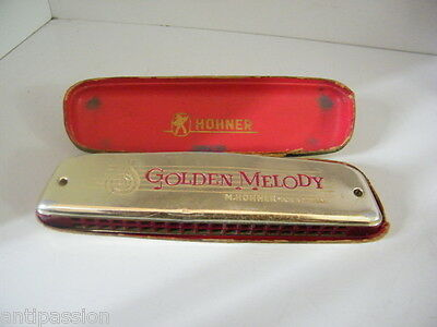Golden Melody H.Hohner made in Germany avec étui,n°399.